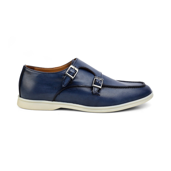 The Julian Blue - Blue Double-monk Sneakers - Tresmode
