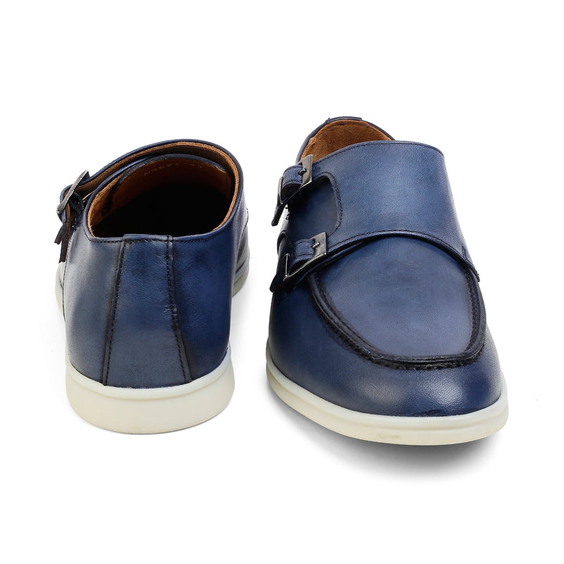 The Julian Blue Double-monk Sneakers