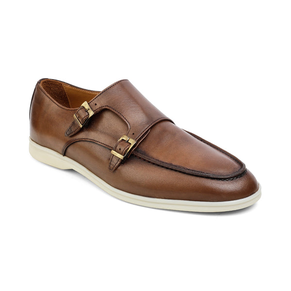 The Julian Brown - Brown Double-monk Sneakers - Tresmode