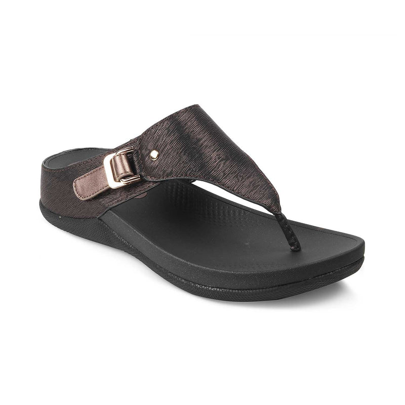 The Aarhus Bronze - Bronze flats for women - Tresmode