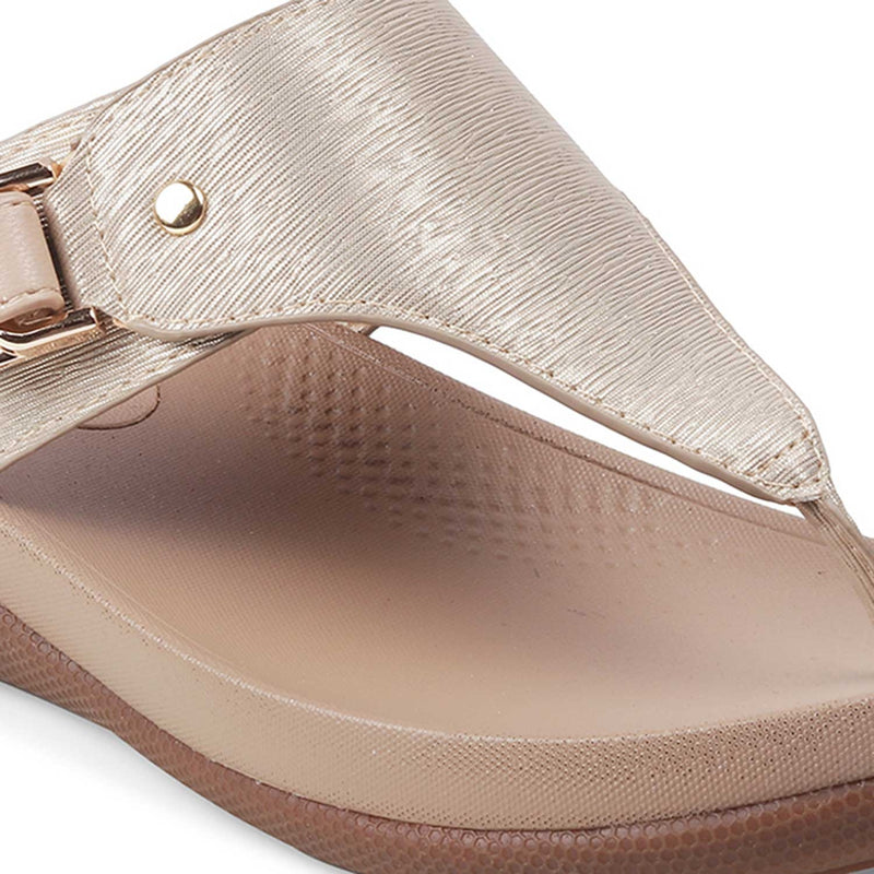 The Aarhus Gold flats for women