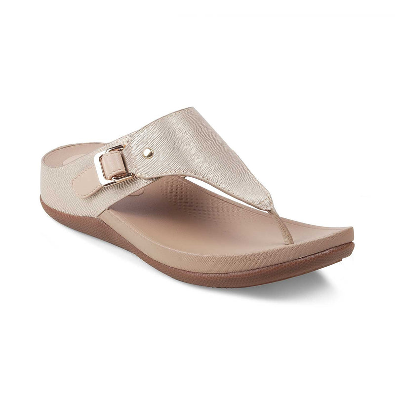 The Aarhus Gold - Gold flats for women - Tresmode