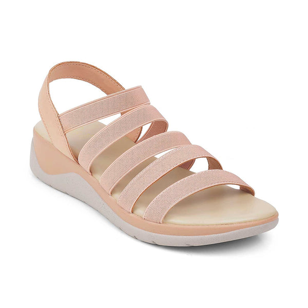 The Athena Pink Casual Sandals For Women