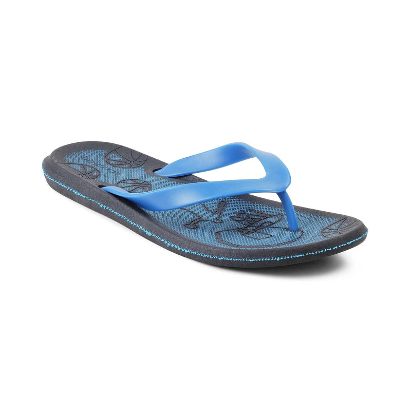 The Curacao Blue rubber flip flops for men