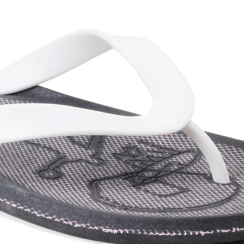 White rubber flip flops for men-The Curacao White-Tresmode