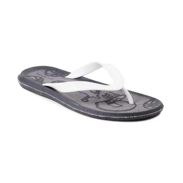 The Curacao White rubber flip flops for men