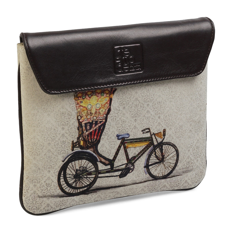 Cycle Print iPad Sleeve-The Cycle iPad Case by Anjali Minrai for Tresmode-Tresmode