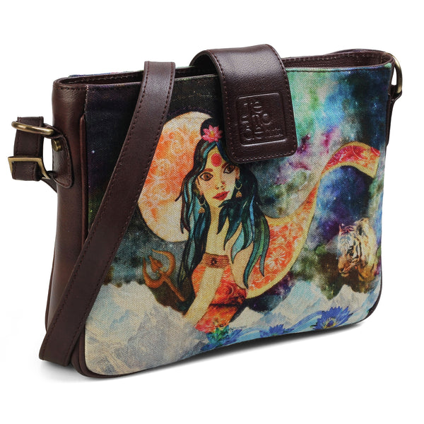 The Energy Sling Bag by Anjali Minrai for Tresmode - Energy Print Canvas Sling Bag - Tresmode