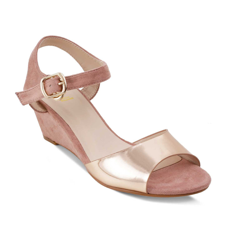 The Hemmer Pink wedge heel sandals