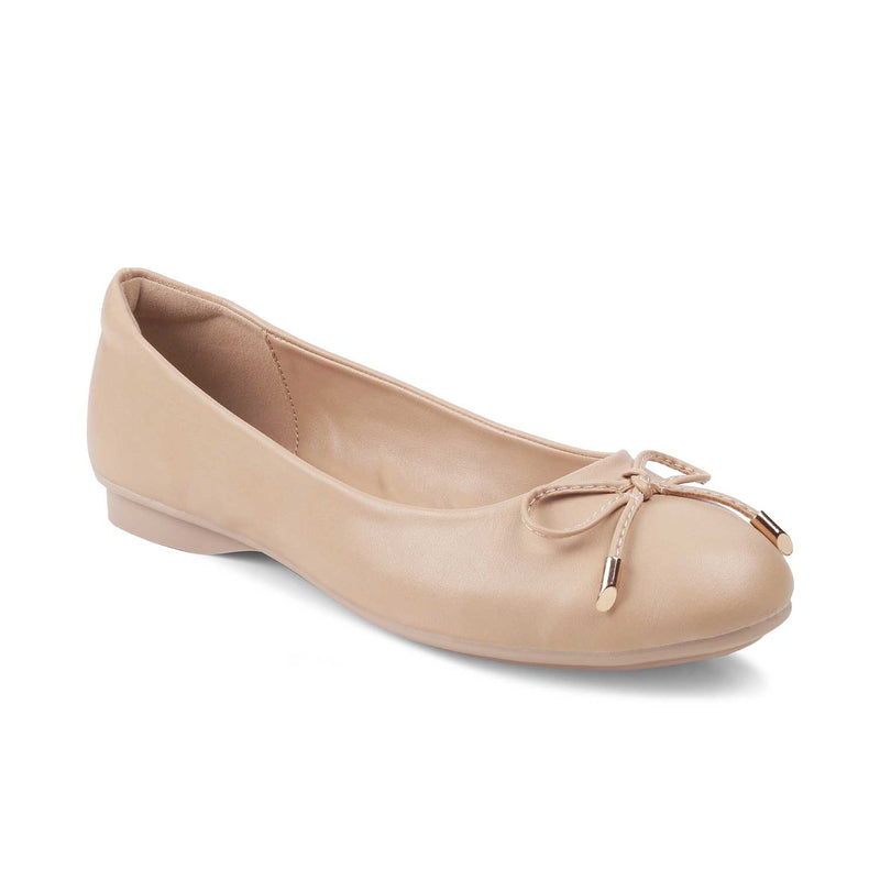 The Herling Beige ballet flats for women