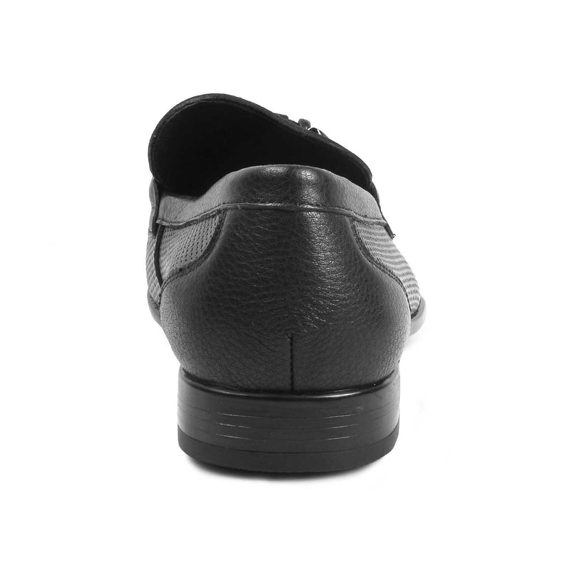 The Izmir Black loafers with buckle detail