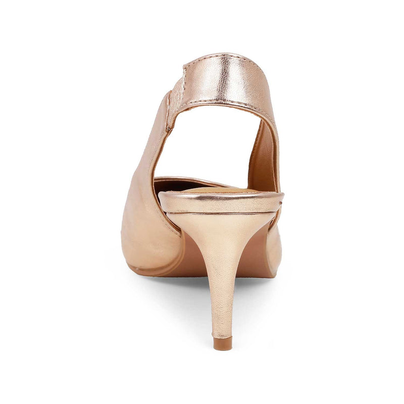 The Nambio Rose Gold - Rose gold pumps with kitten heels and ankle strap - Tresmode