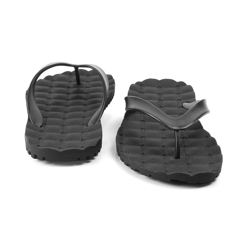 The Rosta BlackBlack rubber flip flops for men - Tresmode