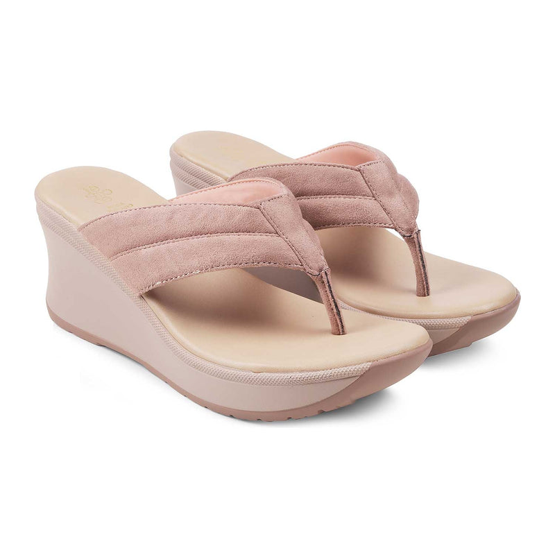 The Rotters Pink - Pink wedge heel sandals for women - Tresmode