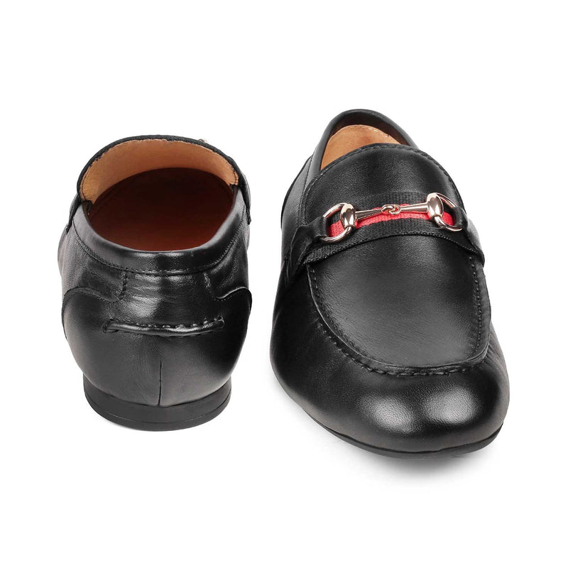 The Sens Black horse-bit loafers