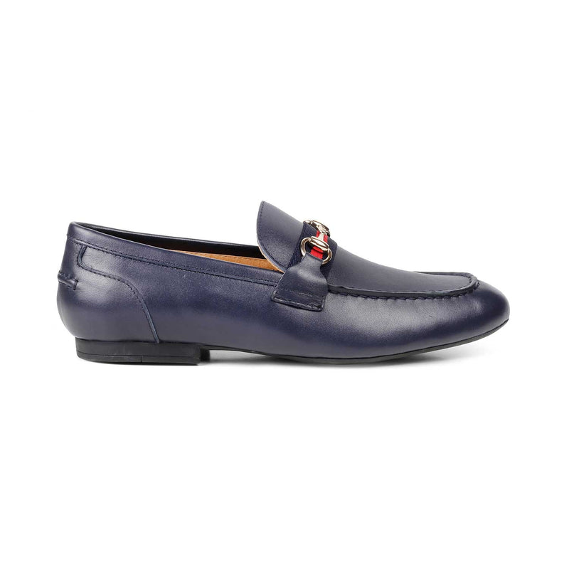 The Sens Blue Horse-bit loafers