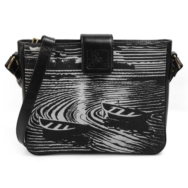 The Boat Sling Bag by Anjali Minrai for Tresmode - Boat Print Canvas Sling Bag - Tresmode