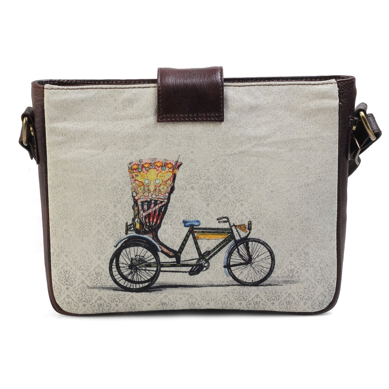The Cycle Sling Bag by Anjali Minrai for Tresmode - Cycle Print Canvas Sling Bag - Tresmode