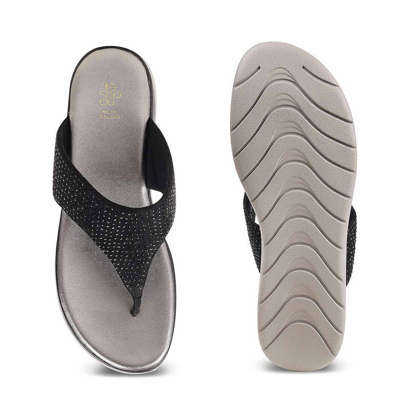 The Summer Black - Black flats for women - Tresmode