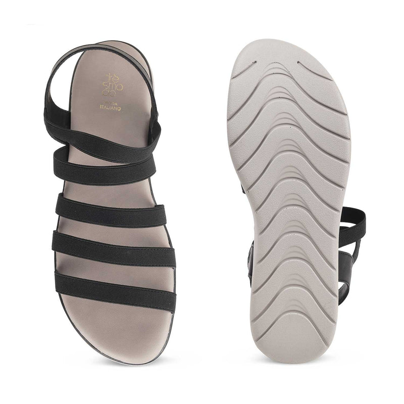 The Sun Black - Black casual sandals for women - Tresmode