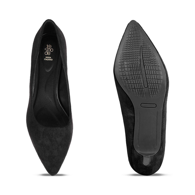 The Wilhem BlackBlack suede pumps - Tresmode