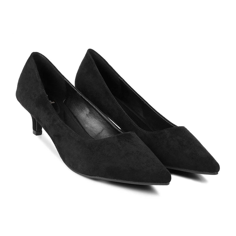 The Wilhem Black - Black suede pumps - Tresmode
