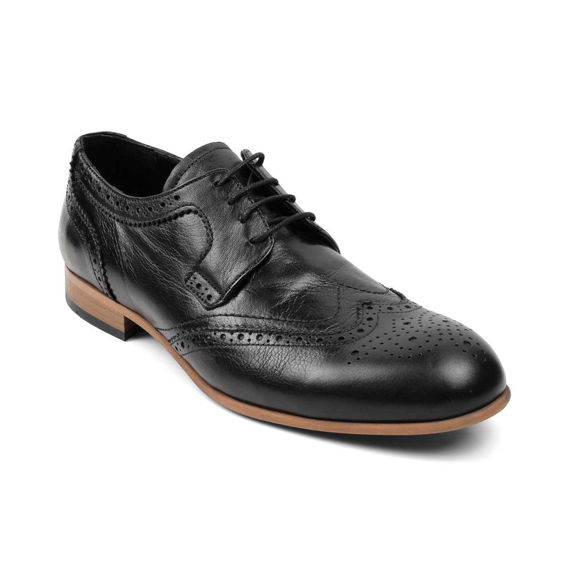 The Dornan Black - Black Derby Laceups - Tresmode