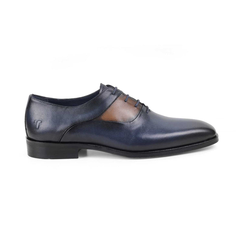 The Rickard Blue - Blue Oxford Laceups - Tresmode