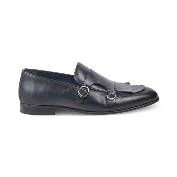 The Florian -1 Blue - Black Monk Loafers - Tresmode