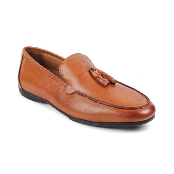 The Simone-1 Tan - Tan Tassel Loafers - Tresmode