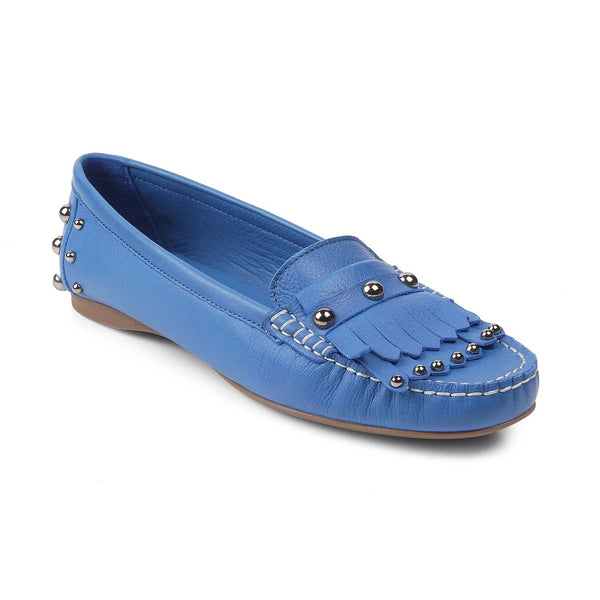 The Ames Blue - Blue Tassel loafers with embellishment - Tresmode