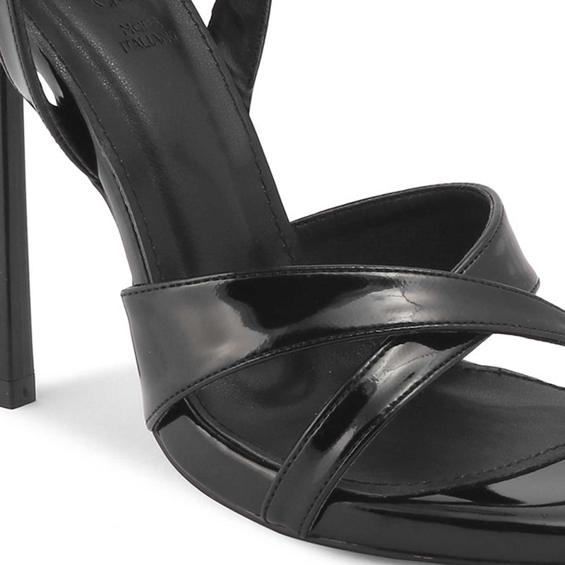 The Moira Black - Black 4 inch heel Stilettos - Tresmode