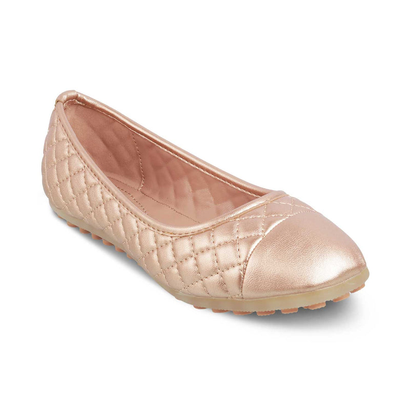THE VIACENZA GOLD Gold Ballerinas for Women