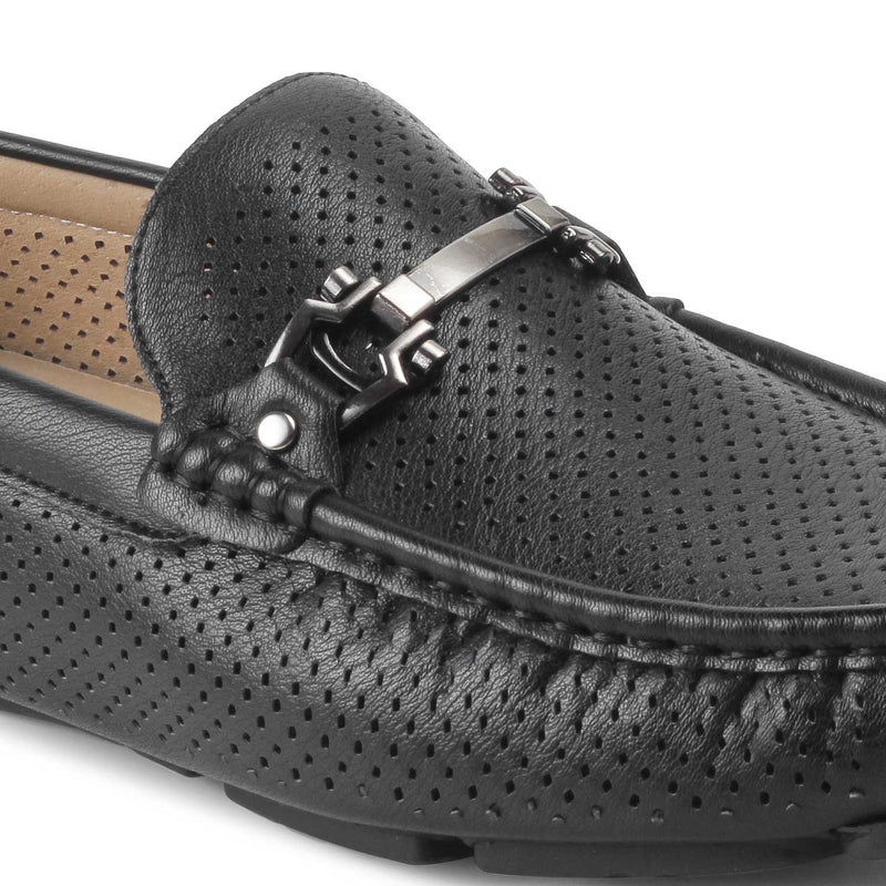 The Aaron-1 Black loafers for men