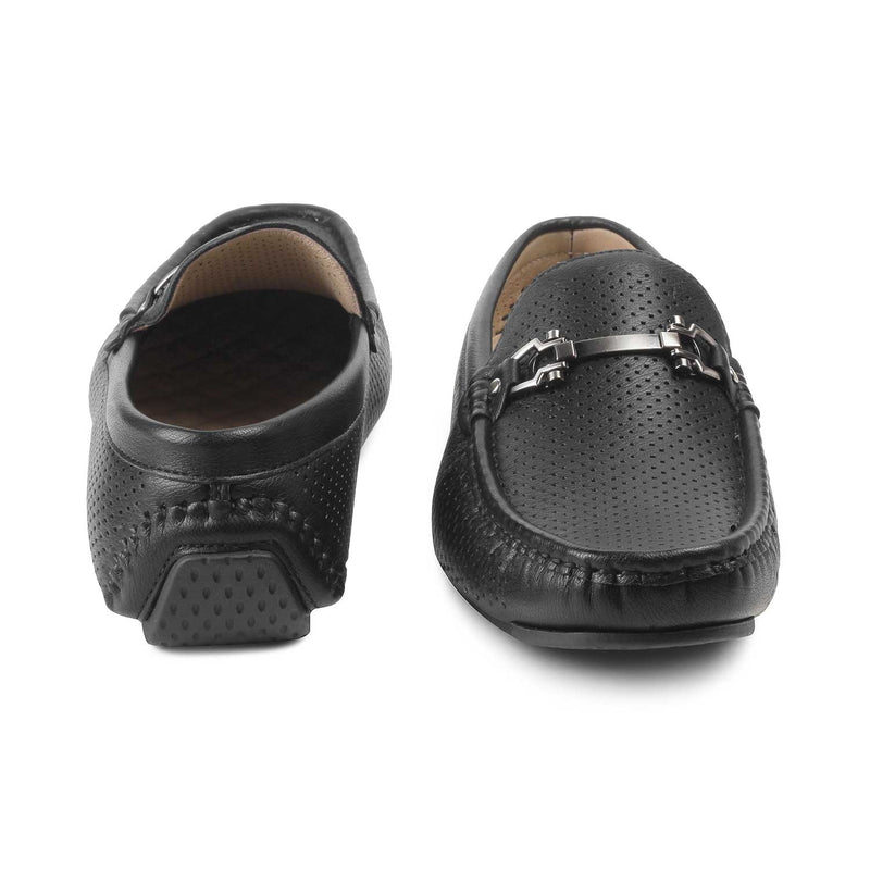 Black loafers for men-The Aaron-1 Black-Tresmode