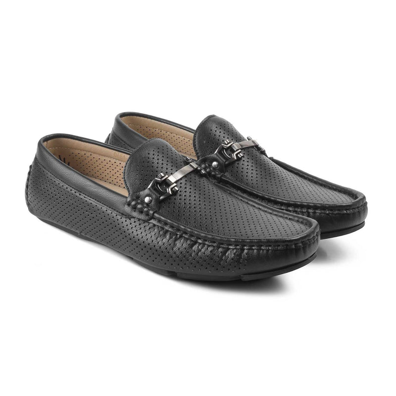 The Aaron-1 Black - Black loafers for men - Tresmode