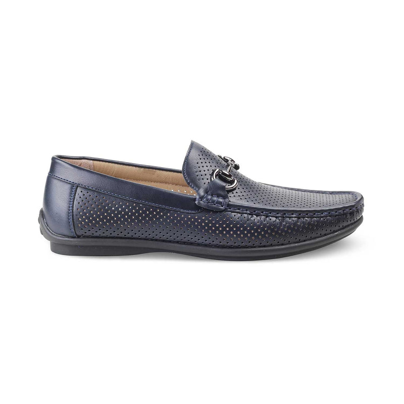 The Angolia-1 Blue Horse-bit loafers for men