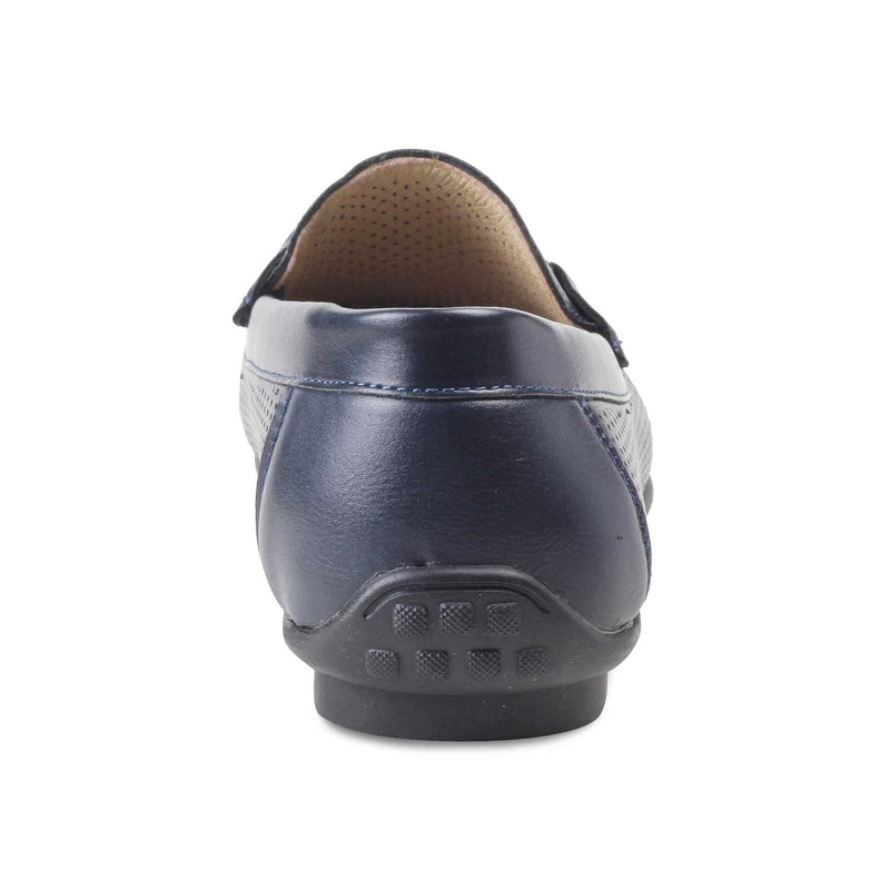 The Angolia-1 Blue - Horse-bit loafers for men - Tresmode