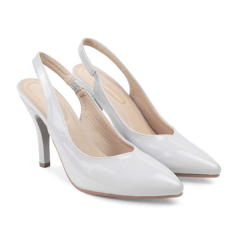 The Bank Grey - Grey pumps for women - Tresmode