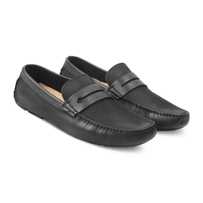 The Belen Black - Black Driving Loafers - Tresmode