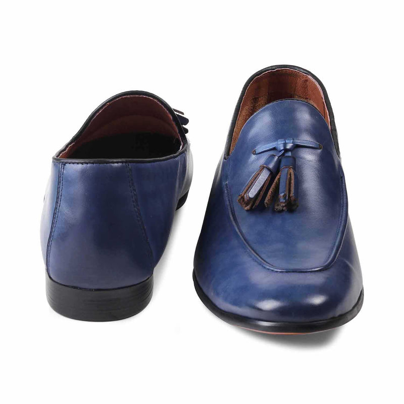 The Bogoto Blue Tassel Loafers