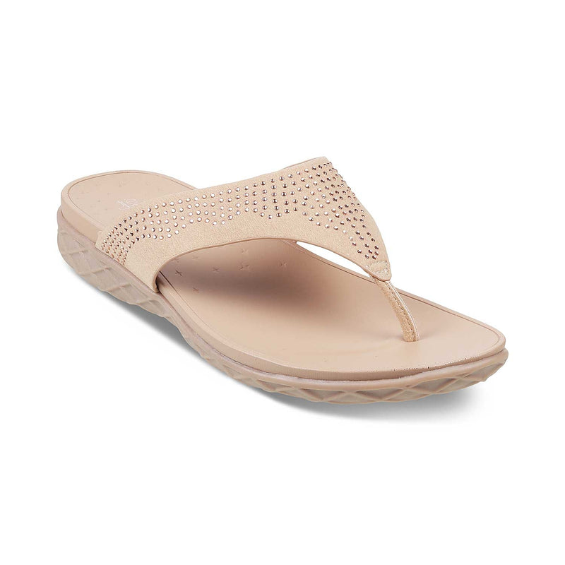 The Brno Beige - Beige Flats for Women - Tresmode