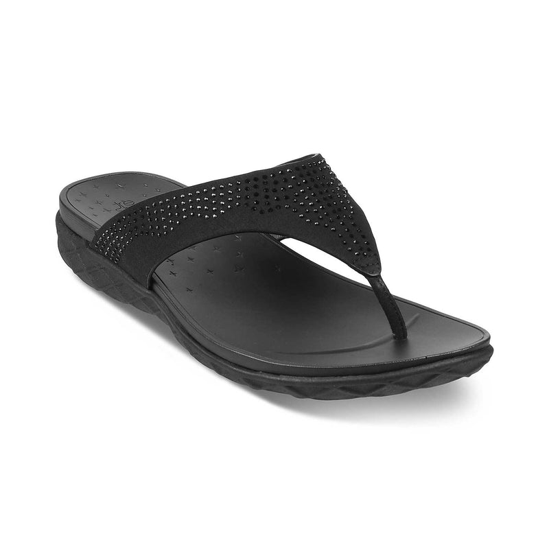 The Brno Black - Black Flats for Women - Tresmode