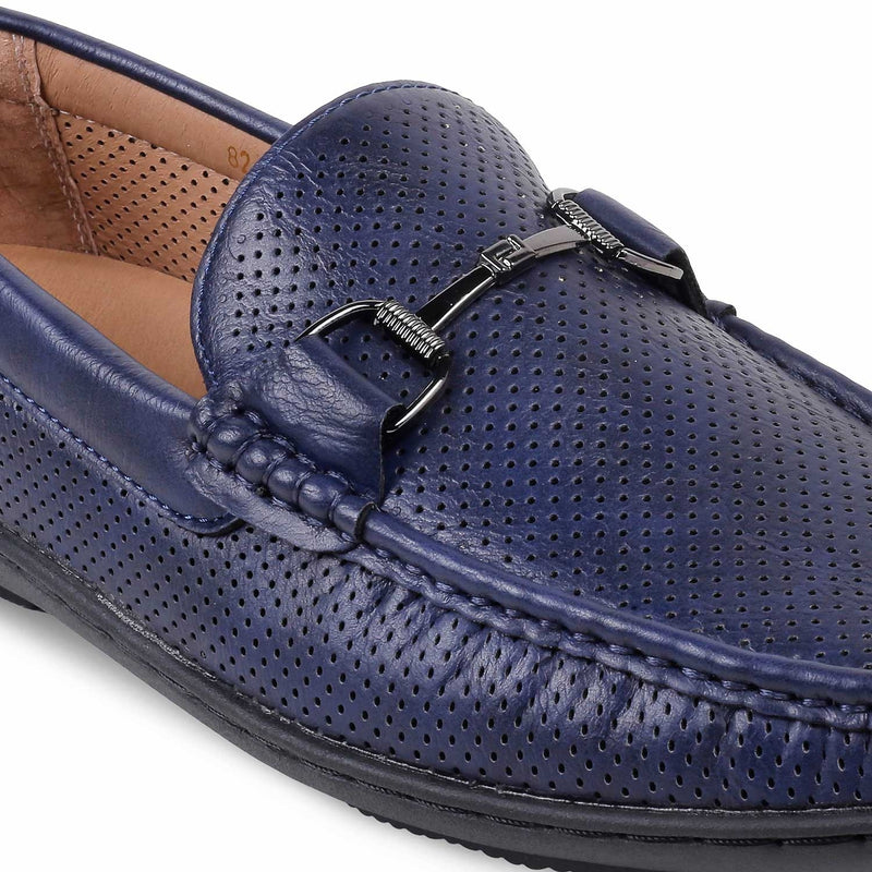 The Buck-1 Blue - Blue Driving Loafers for men - Tresmode