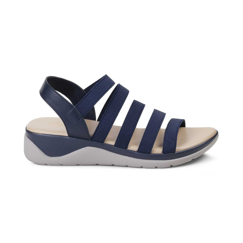 The Caburo Blue - Blue Casual Strappy Sandals for Women - Tresmode