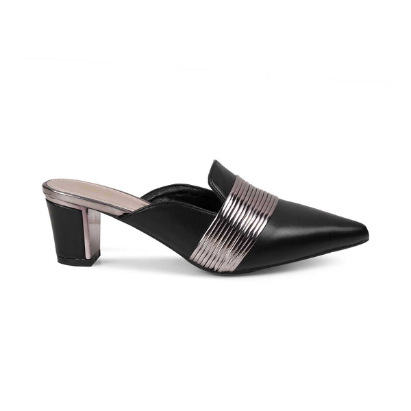 The Delphine Black - Black block heel sandals for women - Tresmode