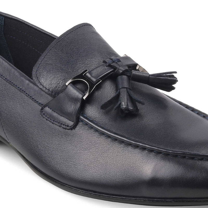 The Elia Blue - Blue Tassel loafers - Tresmode