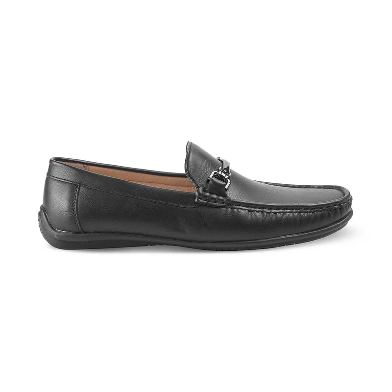 The Ertif-1 Black - Black driver loafers with horsebit buckle - Tresmode