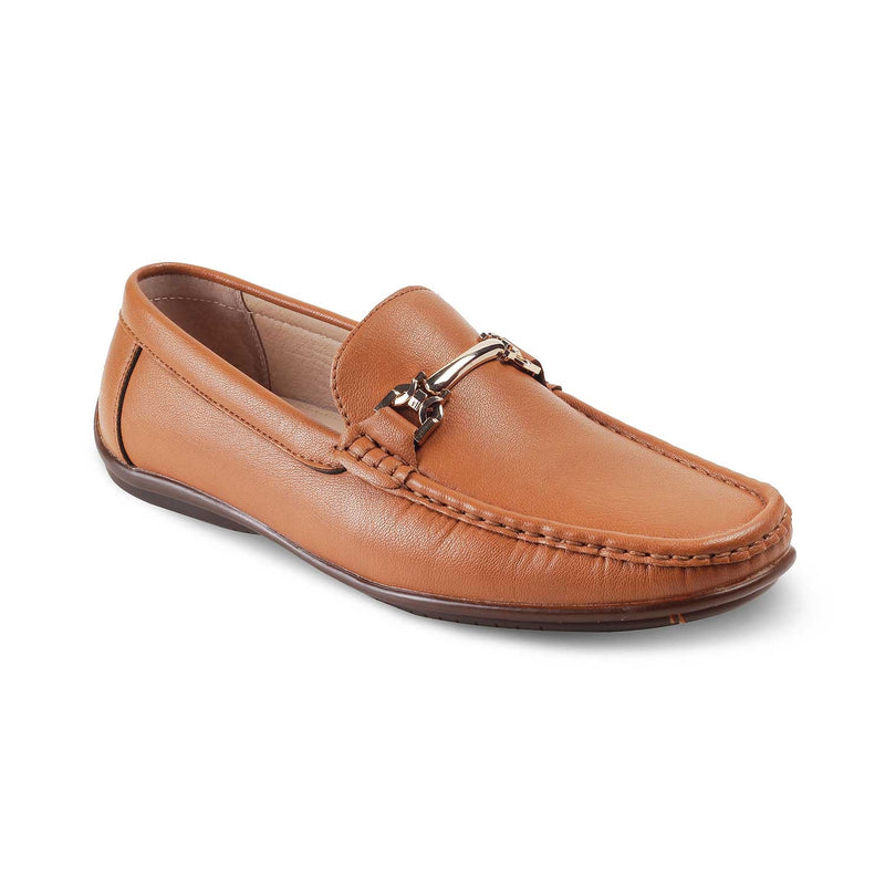 The Ertif-1 Tan driver loafers with horsebit buckle
