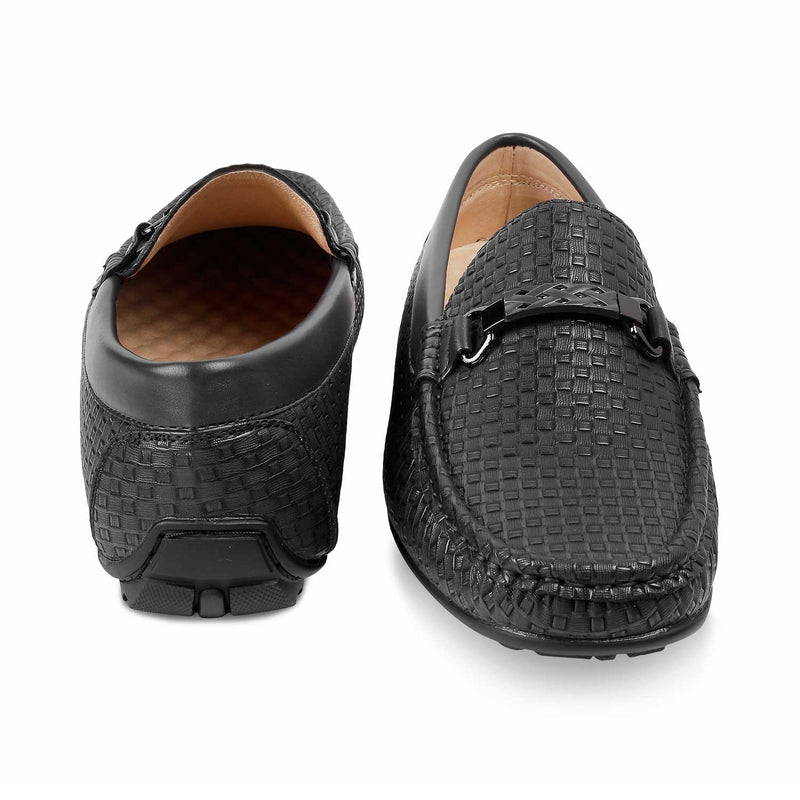The Ariano Black - Black Driving Loafers for Men - Tresmode